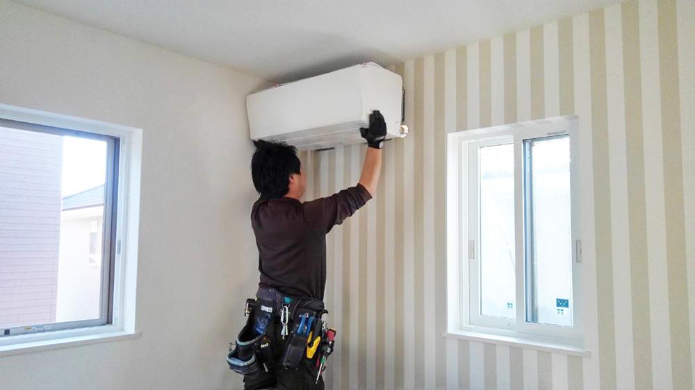 エアコンの取付工事画像
